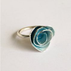 Turquoise Rose Ring. Pretty yet so simple.