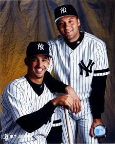 Very young Jorge Posada and Derek Jeter