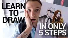 TUTORIAL - ONLY 5 STEPS FASHION ILLUSTRATION I LEARN HOW TO DRAW KARL LA...