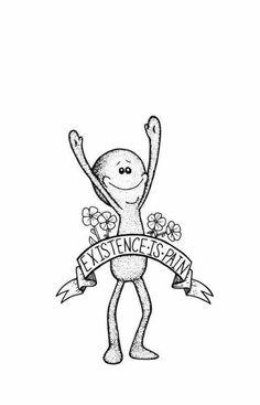 Rick and Morty / Mr. Meeseeks / Existence is Pain . Meeseeks / Existenz ist Schmerz … Rick and Morty / Mr. Meeseeks / Existence is Pain - Rick Und Morty Tattoo, Tatuaje Rick And Morty, Smal Tattoo, Placement Tattoo, Vexx Art, Mister Meeseeks, Posca Art, Future Tattoos, Body Art Tattoos