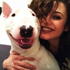 Isn't she ans her dog adorable? Pitbulls, Cow, Animals, Animales, Pit Bulls, Animaux, Pitbull, Cattle, Animal