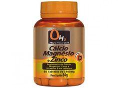 Cálcio + Magnésio + Zinco 60 Tabletes - OH2 Nutrition com as melhores condições você encontra no Magazine 123claudia. Confira!