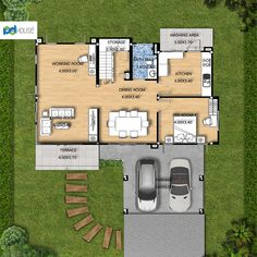 Terrace, House Plans, Floor Plans, Dining Room, How To Plan, Storage, Balcony, Purse Storage, Porch