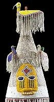 African Yoruba chiefs beaded crown