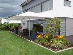 Private home with Uhlmann Umbrellas in Laupheim, Germany. Commercial Umbrellas, Garden Living, Germany, Gardens, Live, Outdoor Decor, Home Decor, Homemade Home Decor, Garden
