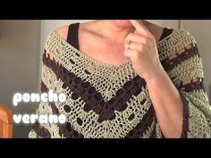 DIY   COMO HACER UN PONCHO DE VERANO TEJIDO EN CROCHET - YouTube