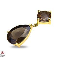 Ebay NissoniJewelry presents - Ladies Smokey Quartz Earrings in 10k Yellow Gold    Model Number:CE-5187Y0SMQ    http://www.ebay.com/itm/Ladies-Smokey-Quartz-Earrings-in-10k-Yellow-Gold/321612038859