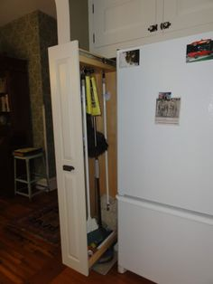 finished kitchen :: broom closet open image by msteinen - Photobucket · Pull  out ...