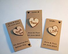 Wedding Favours Personalised Favours Love Tokens by Melysweddings