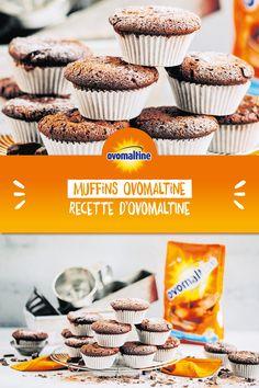 Les muffins Ovomaltine sont non seulement incroyablement délicieux, mais aussi rapides et faciles à préparer. Cette recette rapide fait battre plus fort le cœur de chaque enfant et de chaque adulte.  Les muffins sont parfaits pour l'anniversaire d'un enfant ou comme dessert. Desserts With Biscuits, No Bake Desserts, Muffins, Yummy Cupcakes, Tasty Dishes, Sweet Recipes, Sweet Tooth, Sweet Treats, Food Porn