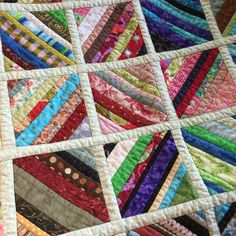 Tutorial: Quilt As You Go String Block