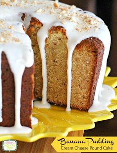 Banana pudding and Southern pound cake collide in this Banana Pudding Cream Cheese Pound Cake. It's a celebration of two Southern favorites. You've never tasted anything like this guaranteed.
