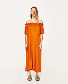 ZARA - WOMAN - LONG DRESS WITH EXPOSED SHOULDERS