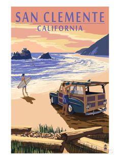 San Clemente, California - Woody on Beach