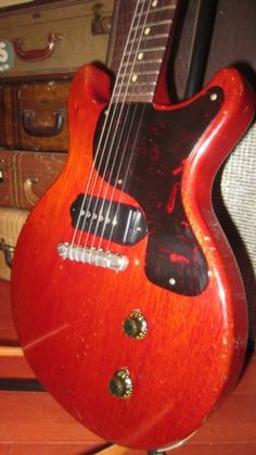 1960 Gibson Les Paul Jr Cherry Red @ Rivington Guitars NYC -- I stopped in and played this one. Instantly took me back 30 years to when I had one exactly like this.