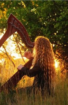 I always wanted to play the harp.