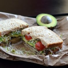 A California style portobello mushroom sandwich that is clean, healthy, and friendly to those on the go!