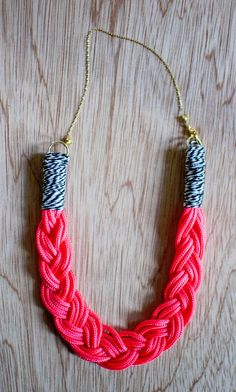 braided necklace diy!