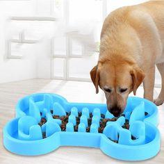 Bol de mancare pentru caine, forma de os, cu accesorii pentru a impiedica mancatul rapid Large Dog Bowls, Large Dogs, Cheap Pet Supplies, Gardening Photography, Slow Feeder, Eat Slowly, Healthy Pets, Food Bowl, Slow Food