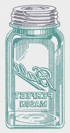 Vintage Mason Jar Mirror Image from http://confessionsofaplateaddict.blogspot.com/2014/07/easy-mason-jar-tea-towels.html
