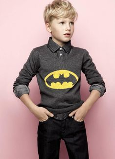 A, gave the boys and her a batman hoody similar to this so they would all be alike.  Great haircut for G!