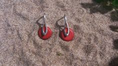Pendientes  de plata de ley y coral. Handmade