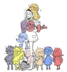 Fire Emblem Fates - Corrin with some of the children