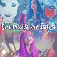 They are true sisters *Carlos Descendants Ben, Disney Channel Descendants, Descendants Videos, High School Musical, Best Freinds, Rotten To The Core, Mal And Evie, Getting Over Her, Disney Decendants