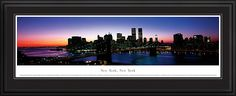 New York, New York- City Skyline Picture - Panoramic Picture $199.95
