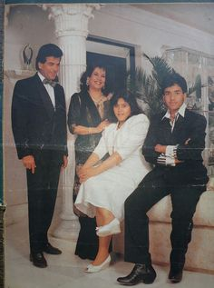 #Jitendra with his family. Bollywood Couples, Bollywood Cinema, Bollywood Photos, Indian Bollywood, Bollywood Stars, Bollywood Actress, Indian Celebrities, Bollywood Celebrities, Raveena Tandon Hot