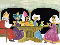 'The Frog Prince' Pestalozzi Publishing, 1969, Germany Illustration by Felicitas Kuhn