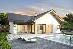 Wizualizacja Mój dom Pawcio CE Chula, Home Fashion, Studio, House Styles, Outdoor Decor, Bungalows, Home Decor, Arquitetura, World