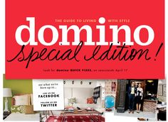 Condé Nast's much-beloved Domino magazine, which closed in is making a return to market as a special edition, called Domino Quick Fixes, set to hit newsstands in April. Like Facebook, Facebook Likes, Lyon, Reading Rainbow, Decoration, Just In Case, The Book, All About Time, Things To Come