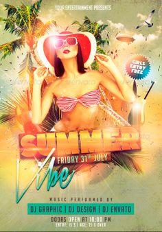 Summer Vibe Flyer Template - http://www.ffflyer.com/summer-vibe-flyer-template…