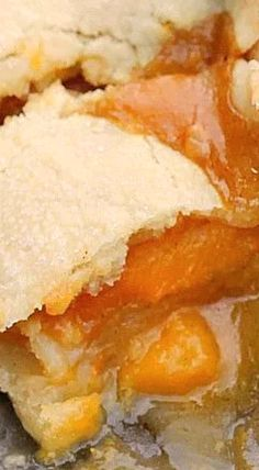 Double Crust Peach Cobbler.