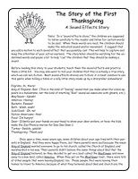 Thanksgiving Sound Effects Story (free)