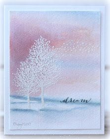 Report from a desk CAS Colours & Sketches # 204 Penny Black Cards, Penny Black Stamps, Winter Cards, Watercolor Cards, Sympathy Cards, Paper Cards, Greeting Cards Handmade, Scrapbook Cards, Homemade Cards