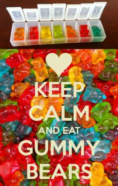 Keep Calm & Get Well Soon Gummy Bear Pills