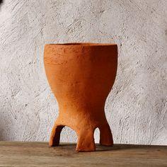Ceramic Planter Terracota Flower Pot cottage boho by GlinkaDesign