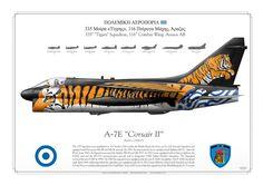 """HELLENIC AIR FORCE . ΠΟΛΕΜΙΚH ΑΕΡΟΠΟΡIΑ335 Μοίρα «Τίγρης», 116 Πτέρυγα Μάχης, Άραξος 335th """"Tigers"""" Squadron, 116th Combat Wing. Araxos AB"""