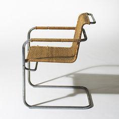 Model B34 armchair, Thonet, Designed by Marcel Breuer, c.1928, Literature: Marcel Breuer: Furniture and Interiors, Wilk, p73