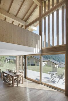 Built on the fringe of the village of Vollèges, Wallis, Switzerland, this house benefits an amazing view on the valley of Entremont.  The living spaces are a...