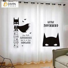 Rod Pocket Curtains, Grommet Curtains, Blackout Curtains, Window Curtains, Batman Room, Curtain Length, Printed Curtains, Room Darkening, Deco