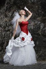 brautkleid rot weiß rot weiß brautkleid rot wedding dress ...