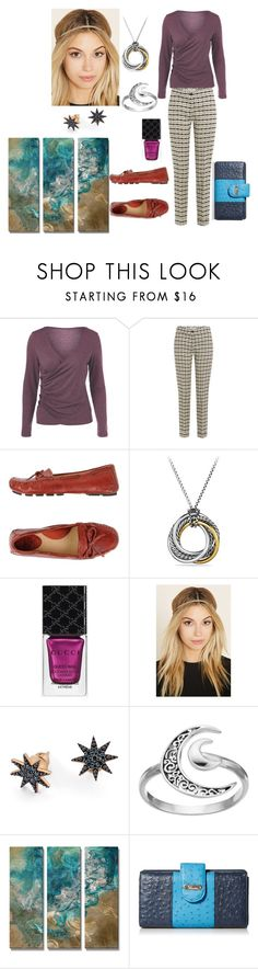 """""""Untitled #234"""" by yasm-ina ❤ liked on Polyvore featuring Etro, Frye, David Yurman, Gucci, Forever 21, Bee Goddess, Primrose, All My Walls and Buxton"""