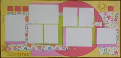 Scrapbook Page Kits 12x12 Beach themed layouts Lilly Pad Pages