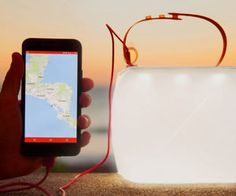 Inflatable Solar Lantern/Phone Charger