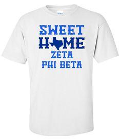 Zeta Phi Beta Sweet Home Tee from GreekGear.com