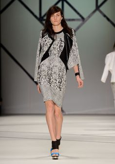 8. Archetype jacquard dress, Archetype jacquard jacket.