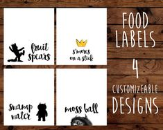 Where The Wild Things Are Food Labels Printable by BeHereNowDesign